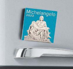 Picture of Michelangelo 2022 magnetic calendar cm 8x8 (3,1x3,1 in)