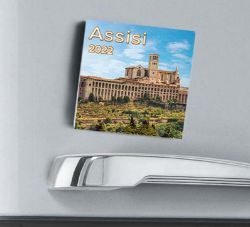 Picture of Assisi Landscape 2022 magnetic calendar cm 8x8 (3,1x3,1 in)