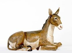 Picture of Donkey cm 180 (70 Inch) Fontanini Nativity Statue for Outdoor use, hand painted Resin