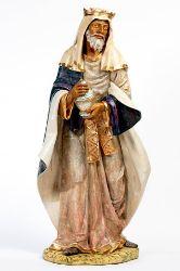 Immagine di Gaspare Re Magio Mulatto a piedi cm 180 (70 Inch) Presepe Fontanini Statua per Esterno in Resina