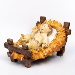 Immagine di Gesù Bambino e Culla cm 180 (70 Inch) Presepe Fontanini Statua per Esterno in Resina dipinta a mano
