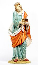 Immagine di Melchiorre Re Magio Bianco a piedi cm 180 (70 Inch) Presepe Fontanini Statua per Esterno in Resina