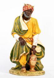 Immagine di Baldassarre Re Magio Moro a piedi cm 180 (70 Inch) Presepe Fontanini Statua per Esterno in Resina