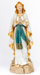 Picture of Our Lady of Lourdes cm 110 (44 Inch) hand painted Resin Fontanini Statue for Outdoor Use