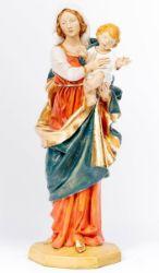 Immagine di Madonna con Bambino cm 110 (44 Inch) Statua Fontanini in Resina per esterno dipinta a mano