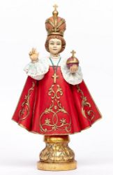 Immagine di Gesù Bambino di Praga cm 52 (20 Inch) Statua Fontanini in Resina per esterno dipinta a mano