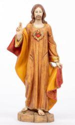 Immagine di Sacro Cuore di Gesù cm 52 (20 Inch) Statua Fontanini in Resina per esterno dipinta a mano