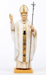 Picture of Pope John Paul II cm 56 (22 Inch) hand painted Resin Fontanini Statue for Outdoor Use