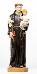Immagine di Sant'Antonio da Padova con Bambino cm 104 (41 Inch) Statua Fontanini in Resina per esterno dipinta a mano